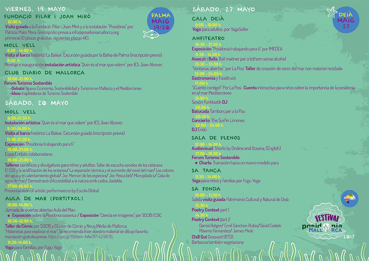 Programa Festival Posidonia Mallorca 2017